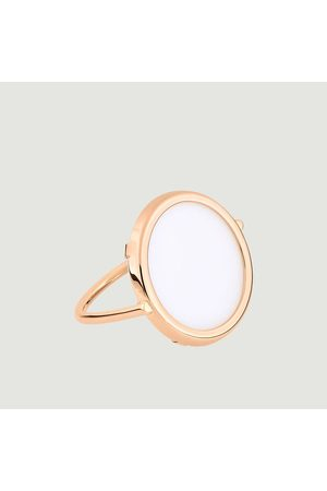 GINETTE NY Ever Disc ring Agate Blanche