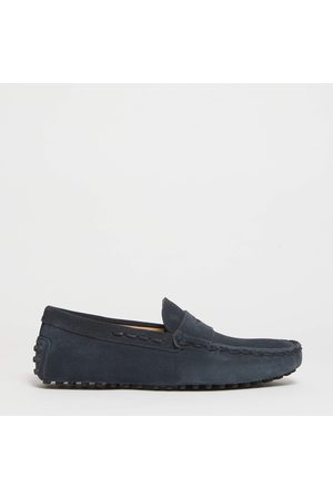 Tod's Men Loafers - Moccasin Rubber In Suede With New Threading