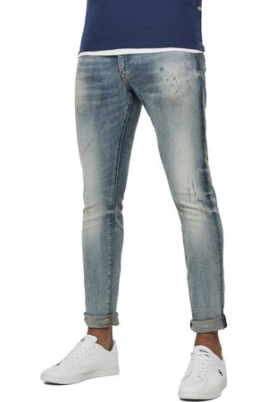 G-Star Revend Skinny Jeans - Elto Superstretch Antic Faded Lapo Destroyed