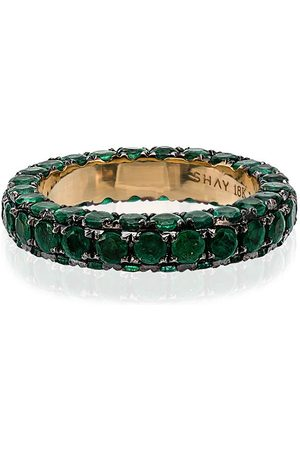 Shay Women Rings - And yellow gold 3 side emerald ring