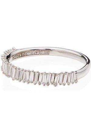 Suzanne Kalan Women Rings - 18kt white gold baguette diamond ring - METALLIC