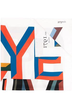 MULBERRY Women Scarves - Alphabet-print square logo scarf