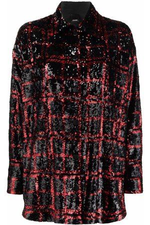 Pinko Sequin-embellished shirt jacket