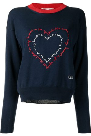 PORTS 1961 Heart-embroidered jumper