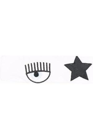 Chiara Ferragni Kids Headbands - Embroidered cotton headband