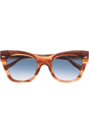 GIGI STUDIOS Cat eye-frame tortoiseshell sunglasses