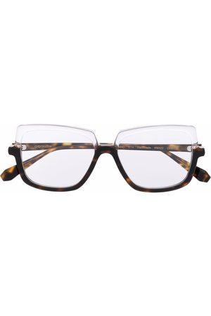 GIGI Tortoiseshell-print oversize-frame glasses
