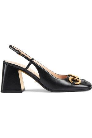 Gucci Horsebit mid-heel slingback pumps
