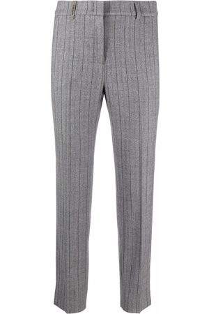 PESERICO SIGN Striped tailored trousers