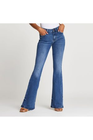 river island Womens Amelie mid rise flared jeans