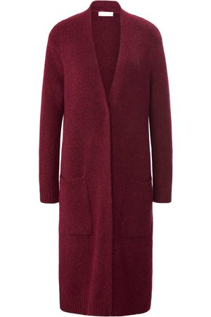 St. Emile Women Coats - Knitted coat long sleeves and V-neck bright size: 12