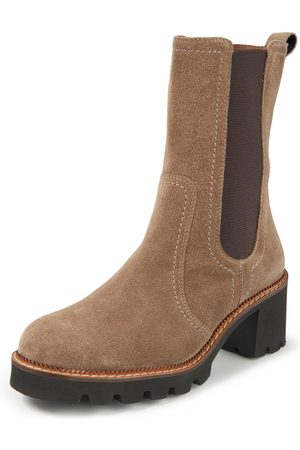 Paul Green Calf suede leather ankle boots size: 37