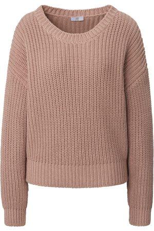 Riani Purl knit round neck jumper pale size: 10