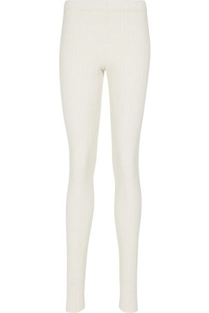 Jil Sander Women Stretch Trousers - Stretch-jersey leggings