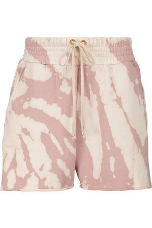 Les Tien Yachts tie-dye cotton shorts
