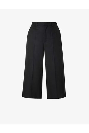 Moncler Cropped mid-rise wool trousers
