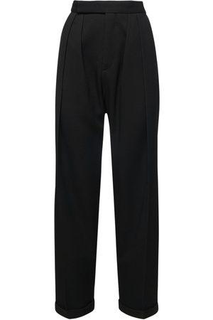 Nensi Dojaka Women Trousers - Virgin Wool Gabardine High Waist Pants