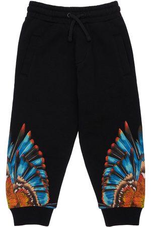 MARCELO BURLON Wings Print Cotton Sweatpants
