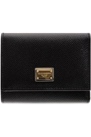 Dolce & Gabbana Small Dauphine Leather Trifold Wallet