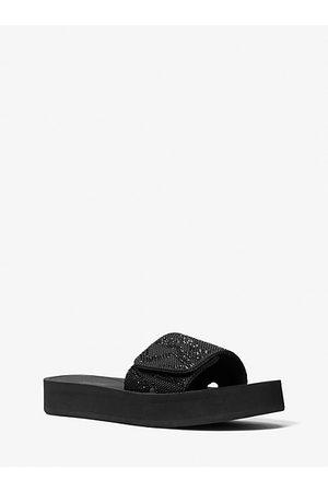 MICHAEL Michael Kors Women Sandals - MK Logo Embellished Platform Slide Sandal - - Michael Kors