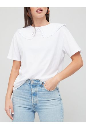 V by Very Collar Detail Tee
