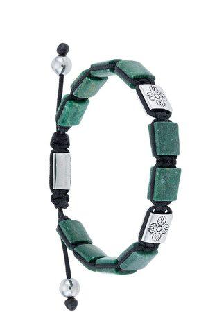 Nialaya Men Bracelets - Dorje Flatbead beaded bracelet
