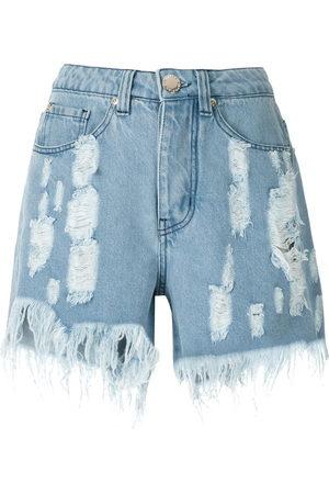 Olympiah Women Shorts - Ripped denim shorts