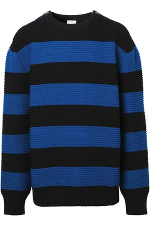 Burberry Men Sweatshirts - Striped ribbed knitted jumper