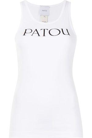 Patou Logo-print organic-cotton vest