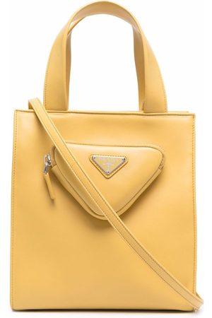 Prada Triangle logo pouch tote bag