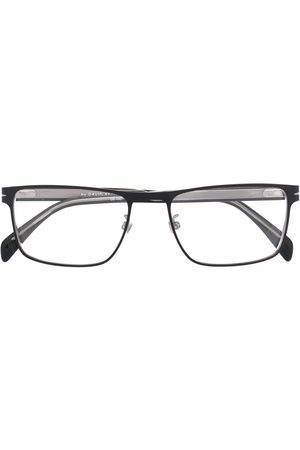 Eyewear by David Beckham Matte-effect rectangle-frame glasses