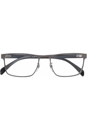 Eyewear by David Beckham Men Sunglasses - Matte-effect rectangle-frame glasses