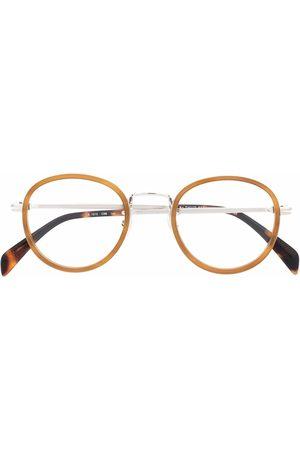 Eyewear by David Beckham Tortoiseshell round-frame glasses