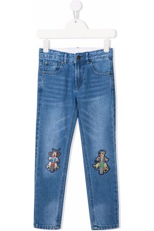 Stella McCartney Kids Cartoon-patch straight-leg jeans