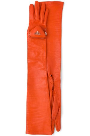 Prada Pouch-detail long gloves