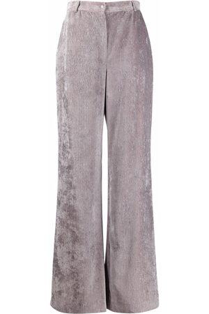 Alberta Ferretti Corduroy flared trousers
