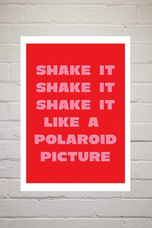 Moodstreet Shake It Like A Polaroid Picture Wall Art Print - Assorted 1 at Urban Outfitters