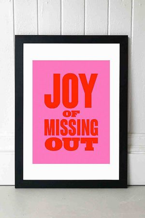 Mood M00d Joy Of Missing Out Wall Art Print - Black 1 at Urban Outfitters