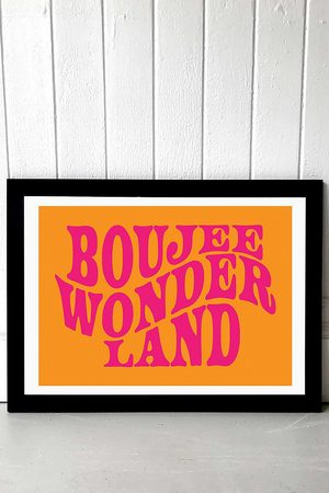Moodstreet Boujee Wonderland Wall Art Print - Black 1 at Urban Outfitters