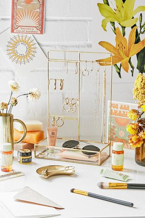 Urban Outfitters Glass Jewellery Stand - ALL at
