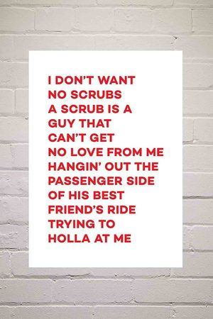 Moodstreet No Scrubs Wall Art Print - Assorted 1 at Urban Outfitters