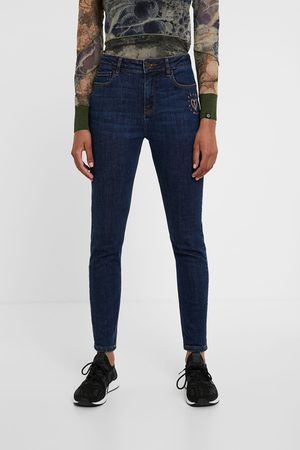 Desigual Women Trousers - Jeans with heart embroidery
