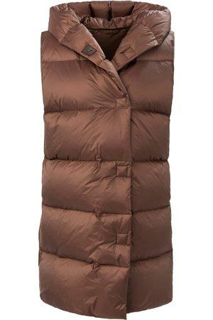 Basler Women Body Warmers - Quilted down waistcoat hood size: 10