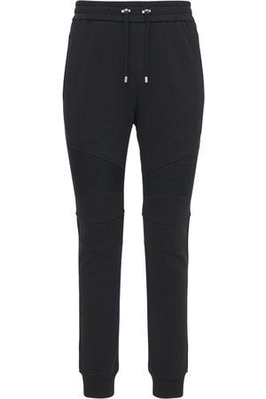 Balmain Men Trousers - B Logo Cotton Jersey Sweatpants