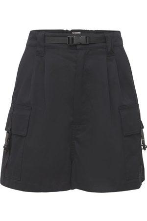 MIU MIU Cotton Gabardine Cargo Shorts