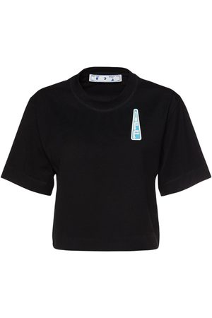 OFF-WHITE Triangle Logo Crop Jersey T-shirt