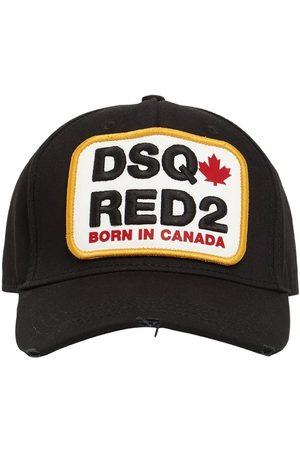 DSQUARED2 Men Hats - Logo Patch Cotton Gabardine Cap