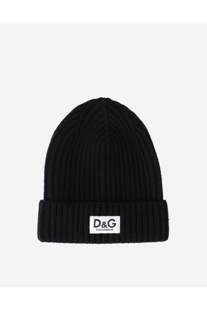 Dolce & Gabbana Boys Hats - Accessories - Ribbed knit hat with logo label male S
