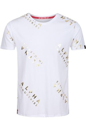 Alpha Industries Aop Tee White Gold
