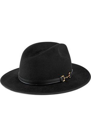 Gucci Men Hats - Felt hat with leather detail